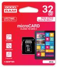 GOODRAM Karta pamięci microSD/SDHC 32GB CLASS 10 + ADAPTER DO SD